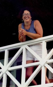 Me standing on the boathouse deck during a break, ca. 1987