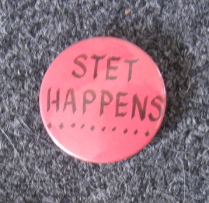 Stet means