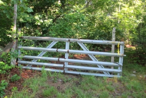 You can get by this gate, but not in a car.