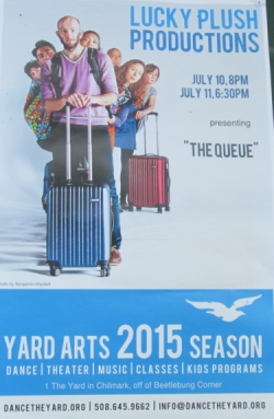 "Poster for ""The Queue"" at The Yard"