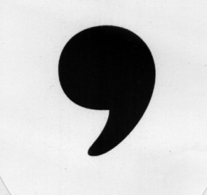 Context matters. Is this a comma or an apostrophe? Actually it's the bottom half of a semicolon, but it's impersonating a comma.