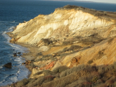 The Gay Head Cliffs, seen from the observation area.