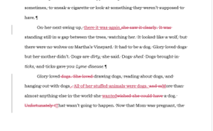 A bit of Wolfie, draft 2, chapter 1, with changes tracked