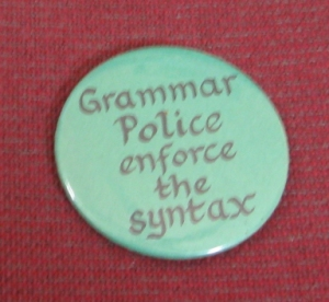 button: grammar police enforce the syntax